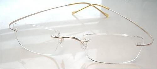 Eyeglasses Invisible Frame : Pure Titanium Hingeless Frames